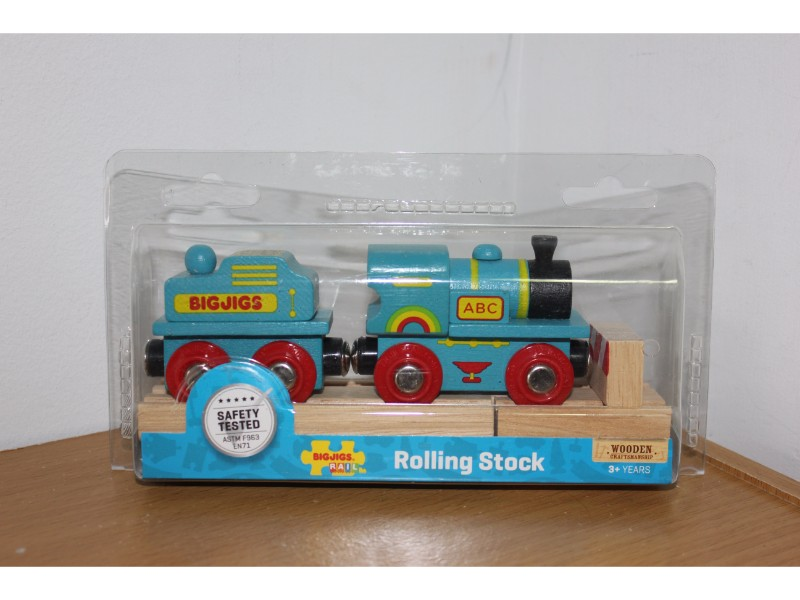 Blue ABC Train - Wooden Trains